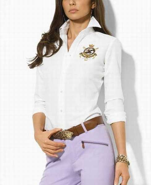 Taille Homme chemise chemise Femme Ralph Chemise Raye Lauren Grande q3A5c4LRj